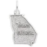 Atlanta Georgia Map Charm