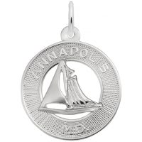 Annapolis MD Sailboat Ring Charm
